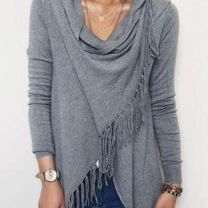 Sweaters - Traded------------Asymmetrical Tassel Knit Sweater